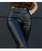 Легінси з екошкіри без кишень