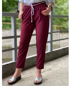 Легкі і вільні бордові брюки