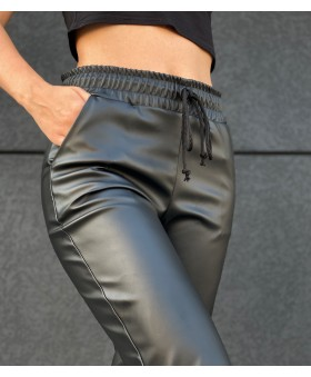 """Шкіряні брюки """"джогери"""""""