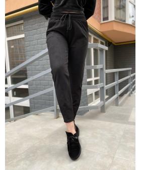 Повсякденні брюки чорного кольору на резинці