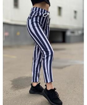 Легкі укорочені брюки на резинці