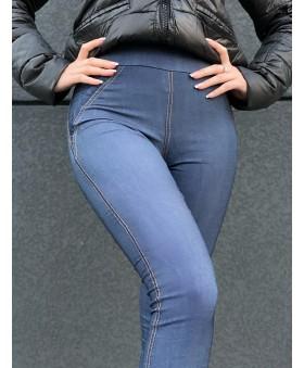 Утеплені лосіни під джинс великих розмірів